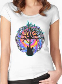 """""""Psychedelic Sonic Cyclone"""" ( surreal guitar art ) Women's Fitted Scoop T-Shirt"""