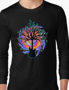 """""""Psychedelic Sonic Cyclone"""" ( surreal guitar art ) Long Sleeve T-Shirt"""