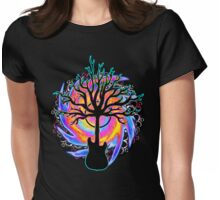"""""""Psychedelic Sonic Cyclone"""" ( surreal guitar art ) Womens Fitted T-Shirt"""