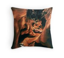 Spooky Slot Canyon Throw Pillow
