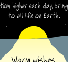 Warm Wishes on Your Winter Solstice! Sticker