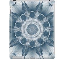Blue Line Kaleidoscope Design iPad Case/Skin