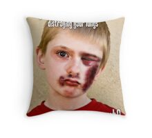 Would you Quit? Throw Pillow