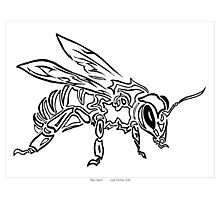 """""""Bee Spirit"""" ver.1 - Surreal abstract tribal bee totem animal Photographic Print"""