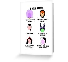 Twisted Villains Greeting Card