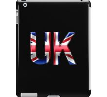 UK - British Flag - Metallic Text iPad Case/Skin