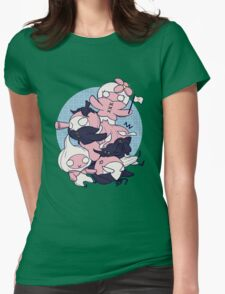 [FFXIV] Mandragora and Friends (Blue) Womens Fitted T-Shirt