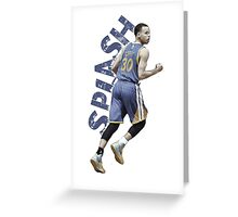 "Stephen Curry ""SPLASH"" Greeting Card"