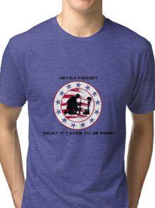 Fallen Soldier  Never Forget Tri-blend T-Shirt