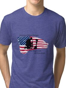 Cost of Freedom Tri-blend T-Shirt