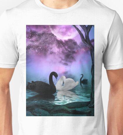 Wonderful black and white swan  Unisex T-Shirt