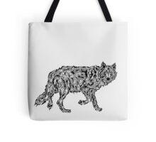 """Wolf Spirit"" - surreal tribal totem animal Tote Bag"
