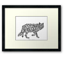 """Wolf Spirit"" - surreal tribal totem animal Framed Print"