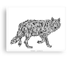 """Wolf Spirit"" - surreal tribal totem animal Metal Print"