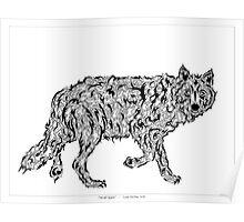 """""""Wolf Spirit"""" - surreal tribal totem animal Poster"""