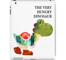 The Very Hungry Dinosaur (Text) iPad Case/Skin