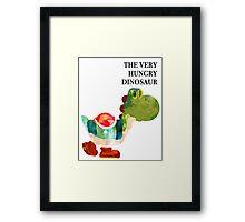 The Very Hungry Dinosaur (Text) Framed Print