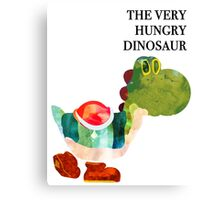 The Very Hungry Dinosaur (Text) Canvas Print