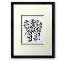 """Elephant Spirit"" version1 - surreal tribal totem animal Framed Print"