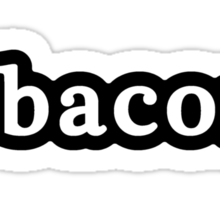 Bacon - Hashtag - Black & White Sticker