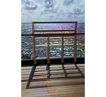 Deck Reflections. Photographic Print