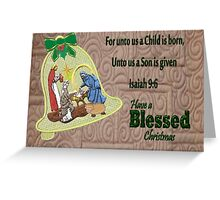 Blessed Christmas  Greeting Card