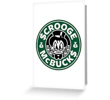 Scrooge McBucks Greeting Card