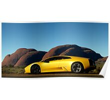 Lamborghini Murcielago at The Olgas Poster