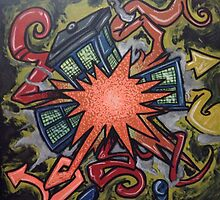 Exploding tardis  by PhillipJohnson