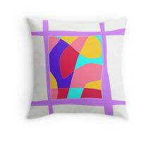 LIlac abstract modern Throw Pillow