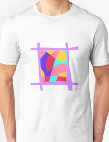 LIlac abstract modern Unisex T-Shirt