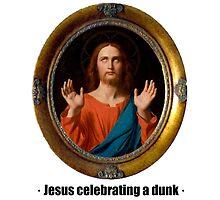 Jesus celebrating a dunk by ayay