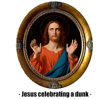 Jesus celebrating a dunk by ayay