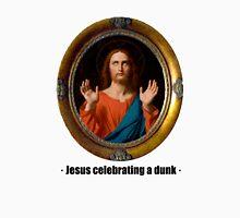 Jesus celebrating a dunk Unisex T-Shirt