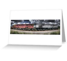 Diesel Electric Locomotives 4473 and 4501 Greeting Card