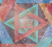 Faded Geometric Galaxy  Sticker