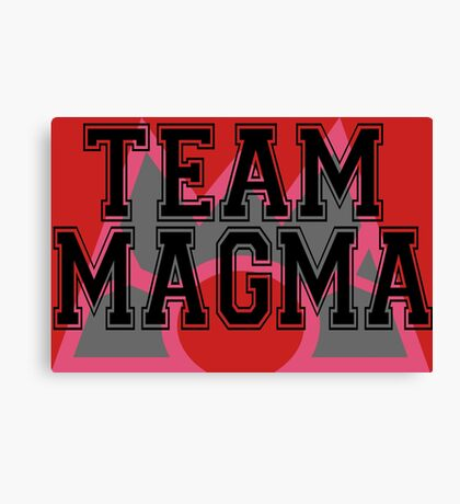 Pokemon - Team Magma Canvas Print