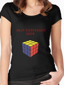 Self-confessed geek. Women's Fitted Scoop T-Shirt