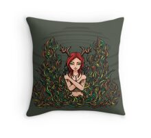 Daughter of Cernunnos Throw Pillow