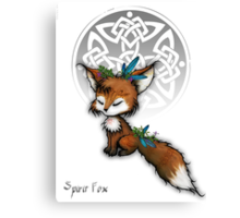Kawaii Spirit Fox  Canvas Print