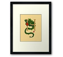 "Oscar and the Roses ""H - Tail"" (Illustrated Alphabet) Framed Print"