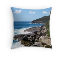 Edge of the Blue Throw Pillow