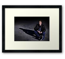 justin in the street Framed Print