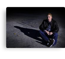 justin in the street Canvas Print