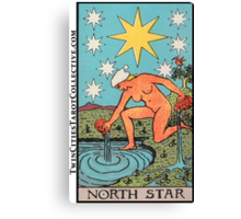 The (North) Star Tarot Card Canvas Print