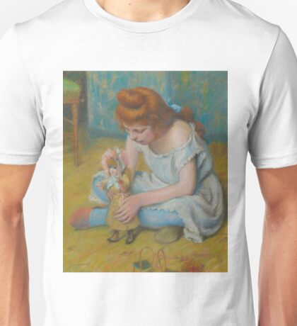 Federico Zandomeneghi - Young Girl Playing With A Doll Unisex T-Shirt