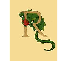 "Oscar and the Roses ""R - Tail"" (Illustrated Alphabet ) Photographic Print"