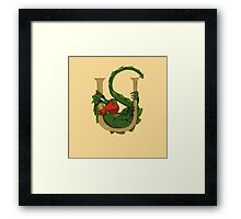 "Oscar and the Roses ""U"" (Illustrated Alphabet) Framed Print"