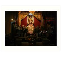 Temple. Hong Kong Island. Art Print
