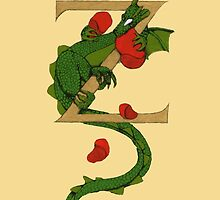 "Oscar and the Roses ""Z"" (Illuminated Alphabet) by Donna Huntriss"